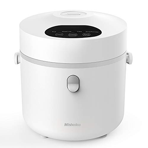 Mishcdea Small Rice Cooker, Personal Size Cooker, Multi Food Steamer, 24 Hours Preset,Portable...