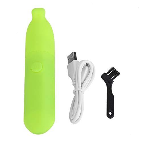 Elektrische Nagel Trimmer Datei Bananenform Nagellack Schleifen Werkzeuge Pediküre Nail Art mit USB Draht für Erwachsene Kinder(grün)