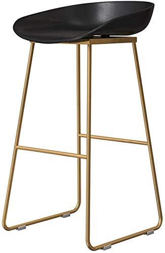 XHCP Muebles de Sala Taburetes Sillas Altas de Oficina Diseño de Muebles Modernos - Altura de mostrador Taburete de Bar Base de Metal con Respaldo bajo - Asiento de plástico ergonómico