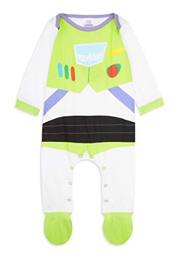Disney Toy Story Tutine Neonato Buzz Lightyear, Pigiama Intero Bambino, Tutina per Neonati in Puro Cotone, Abbigliamento Neonato (Multi, 6-9 Mesi)