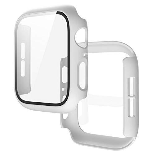 YGGFA Caja Clara con la Cubierta Protector de Pantalla de Vidrio para la Serie de Relojes de Apple 5 4 3 2 1 para iWatch 38mm 40 mm 42mm Accesorios de protección de 44 mm