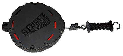 AKO Flexigate Band 20 mm, Torsystem mit 19 Meter Länge - für Doppeltore - Pferde & Rinderweiden, Nutztierhaltung & Wildabwehr - Wird automatisch aufgerollt beim Öffnen