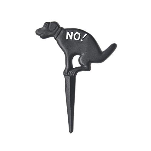 Yarnow Hundekot Verbotsschild Hundehaufen Verboten Schild Hundeschild Kein Hundeklo Steckschild Gartenstecker Gusseisen Hundefigur Dekostecker für Garten Hof Rasen Gartendeko