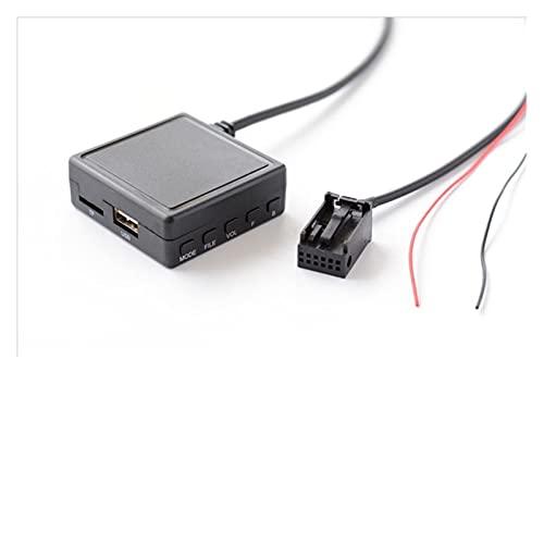 Qinndhto Coche AUX USB Adaptador Bluetooth de micrófono 12 Pin Inalámbrico Entrada de Audio Fit para FIT Ford Focus 600 0CD Radio Adaptadores