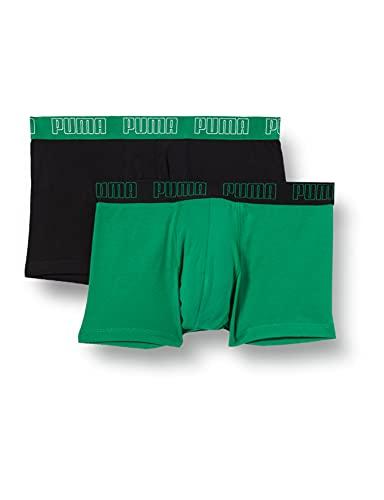 PUMA Basic Men's Trunks (2 Pack), Amazon Green, M Uomo