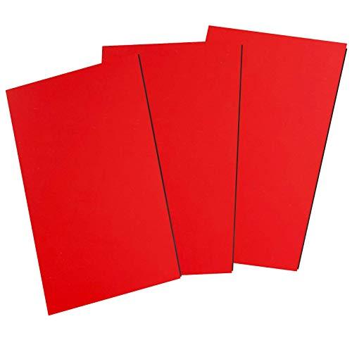 Magnetfolie DIN A4 - Magnetband - Bedruckbar und Beschreibbar Magnet Folie zum Beschriften zum Schneiden Stanzen und Basteln [1 Stück] (Rot)