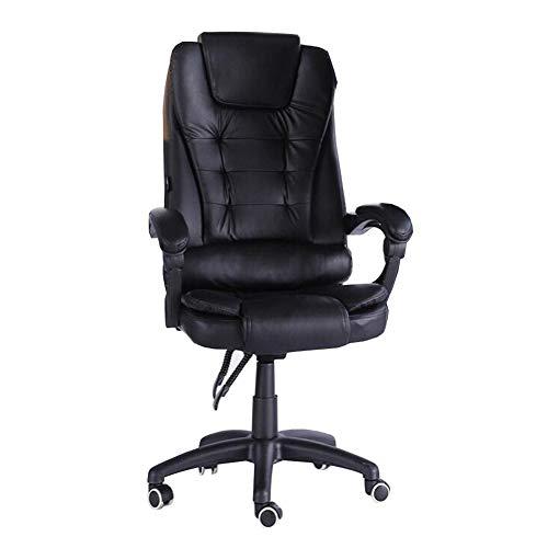 Dall Chaise De Bureau Fauteuil Inclinable Haut Dossier Chaise D'ordinateur Ergonomique Hauteur Réglable Rotation À 360 ° (Couleur : Noir)
