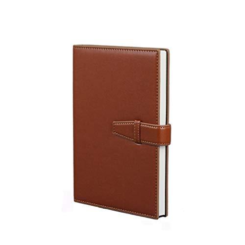 diario Bloc de notas Gran empresa Cuaderno Hebilla Papelería Engrosamiento simple Reunión abierta Registro Este trabajo Manual Cuaderno de cumpleaños de la universidad diario de ( Color : Brown )