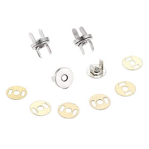 10 stks Metaal Magnetische Knop Tassen Magnetische Snaps Sluiting Zuig Gesp Kleding Knoppen Handtas Accessoires 10 MM Zilver