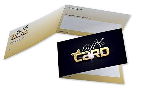 Buoni Regalo Parrucchiera (da 50 a 250 pezzi) Biglietti Omaggio Pieghevoli Parrucchieri Gift Card Coiffeur Coupon Salone Voucher Cartoncino da Compilare per Sconto od Offerta ai Clienti (100)