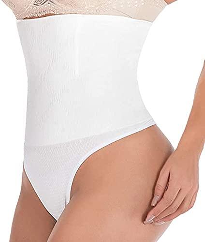Women Tummy Control Shapewear High Waist Butt Lifter Body Shaper Knickers Thong Panty Shapewear White