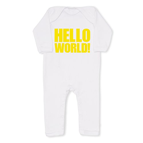 HELLO WORLD! yellow all-in-one, 0-3 months 0-3 months [Baby Product]