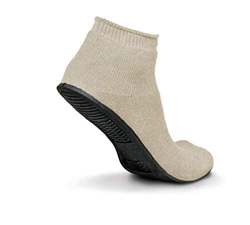Sure-Grip Slippers, 12 Pack per Case, X-Large, Beige