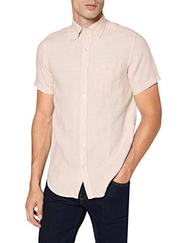 GANT The Linen Shirt Reg SS BD Camisa, Rosa (Seashell Pink 609), XX-Large para Hombre