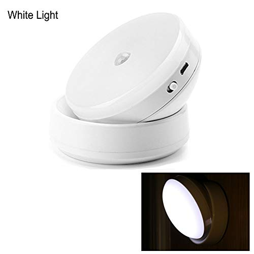 EUFANCE USB oplaadbare bewegingssensor nachtlampje, smart sensorlicht, nachttafellampje, nachtlampje voor middernachts, cabines, rechts/reizen met intelligente inductie