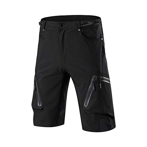 BBZUI Men Outdoor Cycling Mountain Bike Shorts Pants Summer Quick Drying Breathable Biker Shorts for Men (Black, XXXL)