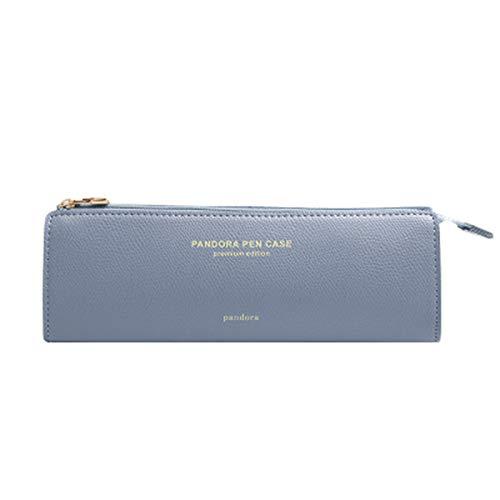 """Scrox1x """" Pandora Pen Case """" Lápiz inglés Simple Estuche de lápices de Estudiante Bolsa de Almacenamiento de artículos de papelería lápiz Pluma Lápiz Caso 20 * 6.5 * 5.5CM Cuero Artificial (Hellblau): Amazon.es: Hogar"""