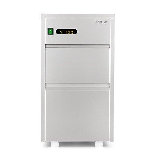 Klarstein ICE8 POWERICER XL - Macchina cubetti ghiaccio, Macchina per Ghiaccio Professionale, Ice Maker, 20 kg /24 h, 145W, Vano da 3,5 Kg, Compressore Silenzioso, Acciaio, Argento