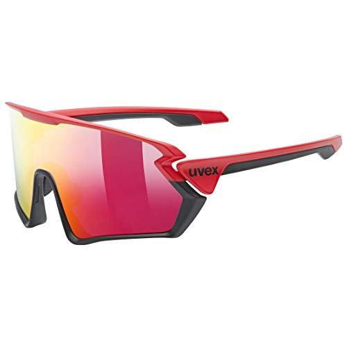 uvex Unisex– Erwachsene, sportstyle 231 Sportbrille, red black mat/mirror red, one size