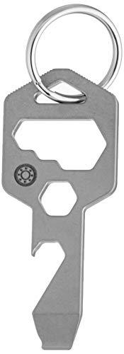 Closs 8-in-1 Multitool Schlüsselanhänger, Flaschenöffner, Schraubendreher und Schraubenschlüssel (Silber)