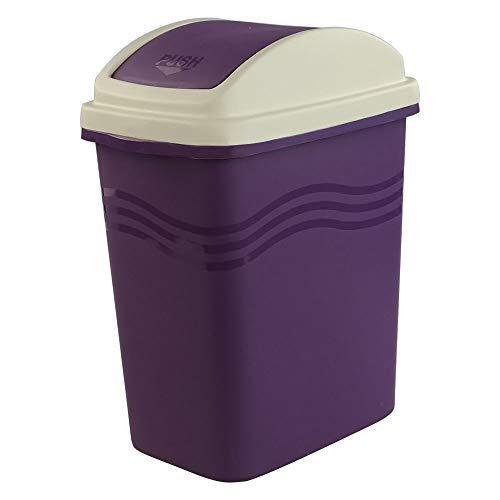 Mayish 10 L Papelera Cubo de Basura Cubo Basura Basura Reciclaje Basurero Plastico con Tapa Basculante, 1 Unidad