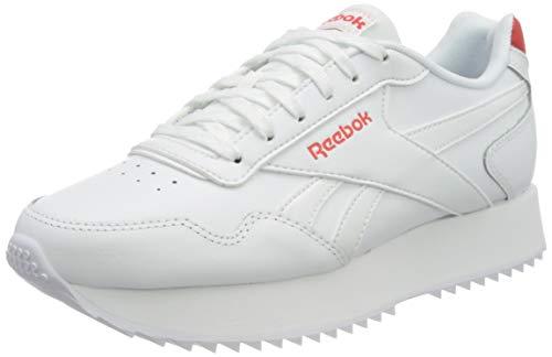 Reebok Royal Glide RPLDBL, Scarpe da Ginnastica Donna, White/Instinct Red/White, 37 EU