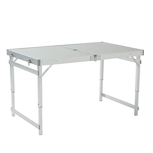 Couchtisch, zusammenklappbar, tragbar, Camping, Aluminium, verstellbar, für den Außenbereich, Grilltisch, Endtisch (Größe B