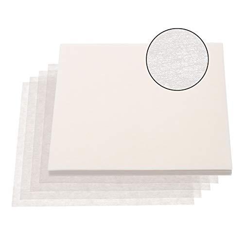 MADEIRA 50 Stück Stickvlies Zuschnitte Vlies 20cm x 20cm weiß 40g/m2