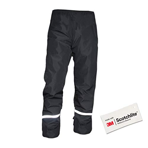 Salzmann 3M Pantaloni da Pioggia Riflettenti | Pantaloni da Trekking Impermeabili, Antivento e Leggeri | Realizzati con Materiale 3M Scotchlite