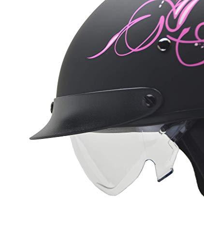 Vega Helmets Unisex-Adult Warrior Half Helmet Replacement Drop (Clear Shield, 1 pack)