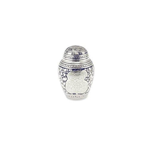 Cherished Urns Porth Teddy Bär Messing Kind Andenken/Miniatur Urne in Blau