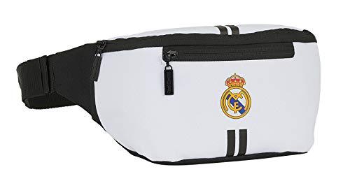 Safta Riñonera con Bolsillo Exterior de Real Madrid 1ª Equipación 20/21, Blanco/Negro, 230x90x120mm