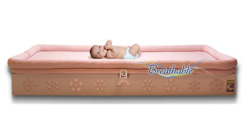 Secure Beginnings Heaven Sent Breathable Crib Mattress Base, Flower-White, Standard