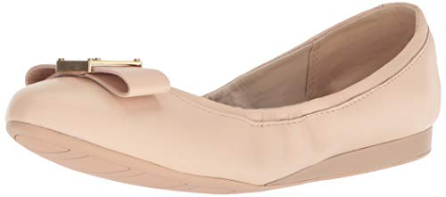 Cole Haan Women's Emory Bow Ballet Flat, Nude Leather, 10.5 B US