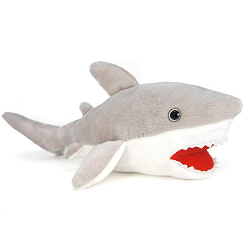 VIAHART Mason The Great White Shark   15 Inch Large Stuffed Animal Plush   by Tiger Tale Toys -  796890587799