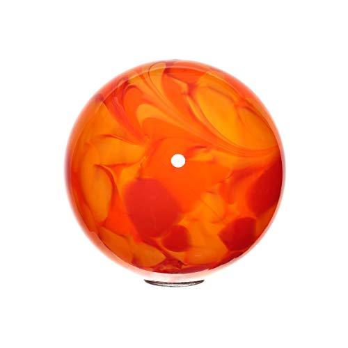 Cristalica Gartenkugel Kugel Gartendekoration Glas Mundgeblasen Rot Orange 18 cm inkl. Stab