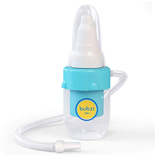 Baby Nasal Aspirator for Sinus Congestion Relief, Baby Essentials Booger Snot Sucker, Bonus Storage Case, Premium Mucus Extractor for Cold and Flu, Gentle Nose Cleaner Suction