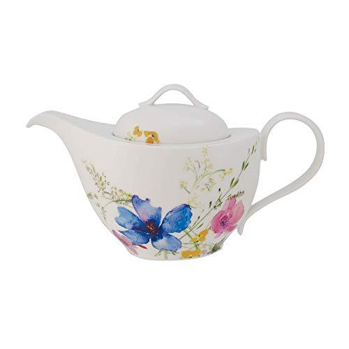 Villeroy und Boch Mariefleur Basic Teekanne, 1,2 Liter, Premium Porzellan