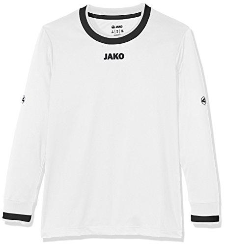 JAKO Kinder Fußballtrikots LA Trikot United, Weiß/Schwarz/Grau, 140