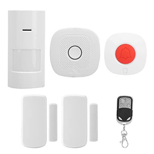 Seguridad Alarma infrarroja Sensor de puerta Timbre de puerta Kit de alarma inalámbrica Sistema de alarma Wifi Alerta antirrobo con control remoto Funciona Sistema de seguridad para el hogar
