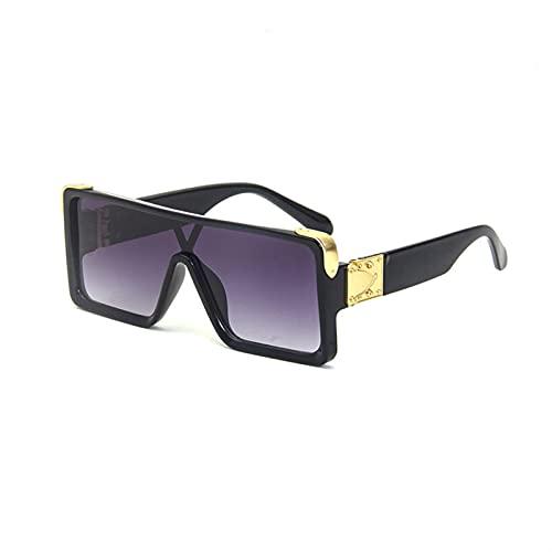 FDNFG Gafas de Sol cuadradas de Gran tamaño Hombres Mujeres Retro Gafas de Sol Vintage uv400 Gafas Gafas de Sol (Lenses Color : C4)