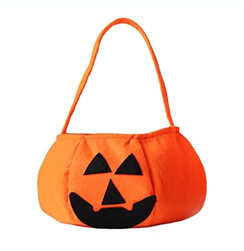 HiChange Halloween Pumpkin Candy Bag Trick or Treat Bags Candy Goodies Gift Handbag