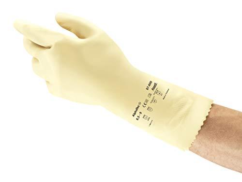 Ansell Alphatec 87-600 Mehrzweck-Arbeitshandschuhe, Chemisch Beständig, Gute Fingerbeweglichkeit und Tastsensibilität, Dünnes und Flexibles Design, Größe 7/S (12 Paar)