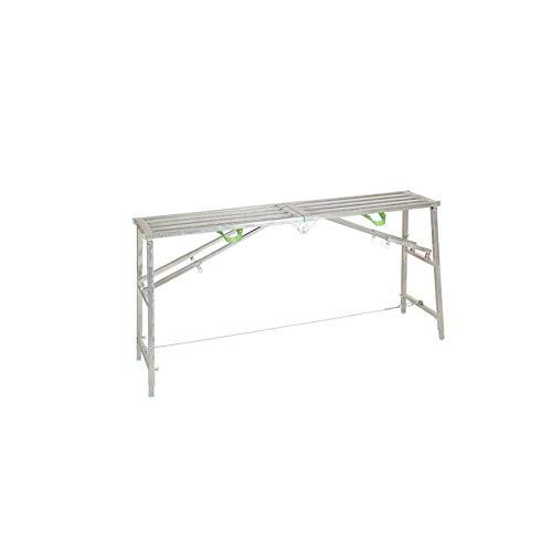 ZPWSNH Multifunctionele opvouwbare ladder kruk stijlen en vallen steigerbouw techniek vierkante buis platform bank dubbele stok ladder verdikking decoratie opstapkruk