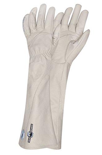 StoneBreaker Gloves Rose Gauntlet Women's Gardening Glove, Small, Bone