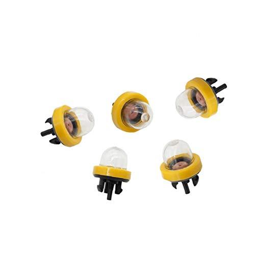 tJexePYK Bulbos de Motosierra Primer 07916 Burbuja A056013 carburador Aceite Bulbo Gasolina Snap En cebador de Combustible Motosierra Taza de Aceite Accesorios del Coche de 5pcs Inicio Amarillas