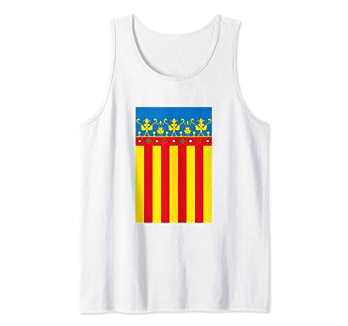 Flag Of Valencia Spain Souvenir Vertical Royal Senyera Camiseta sin Mangas