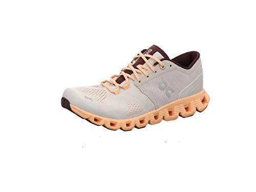On Running W Cloud X Orange, Damen Laufschuh, Größe EU 39 - Farbe Silver - Almond