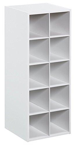 ClosetMaid 1545 Stackable 10-Cube Organizer, White