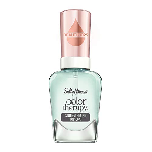 Sally Hansen Smalto Unghie Color Therapy Nail Beautifiers, Strength & Protect Topcoat, Smalto Rinforzante